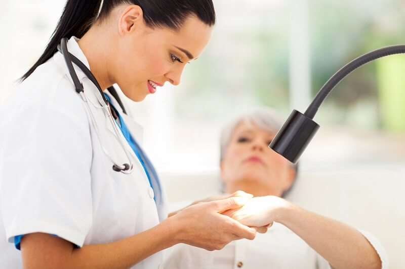 What does the dermatologist do?