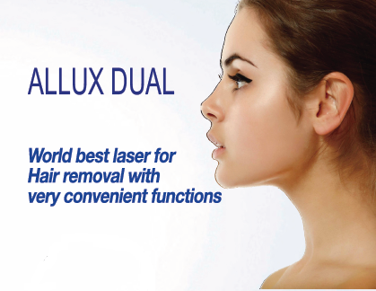 ALLUX DUAL - Worlds best laser for hair removal with very convenient functions